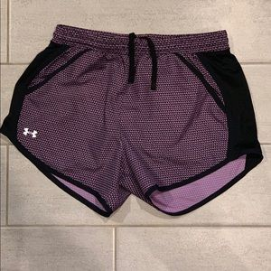 NWT. Neon /& Purple UA Girl Toddler Reversible Under Armour Athletic Shorts